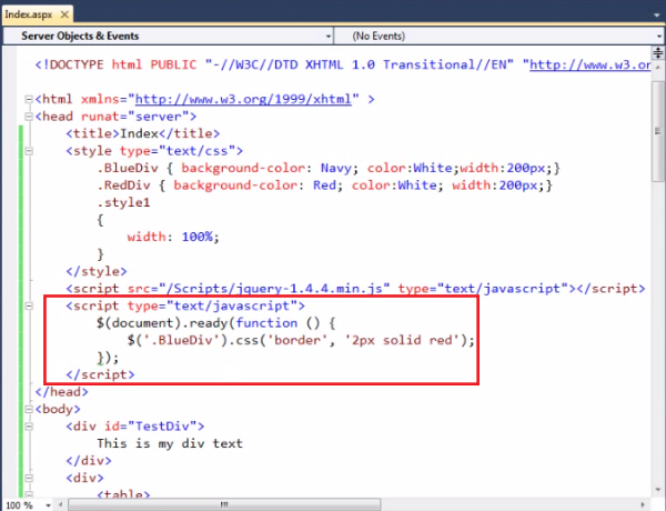 how to find class in jquery