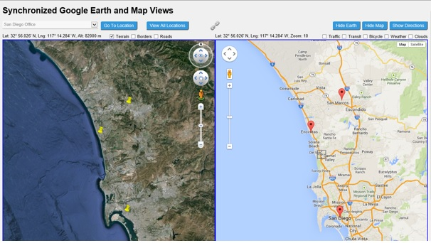 Synchronized Google Earth and Map Views - CodeProject