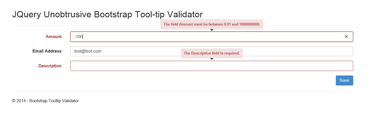 Using The Jquery Unobtrusive Validator With Twitter Bootstrap
