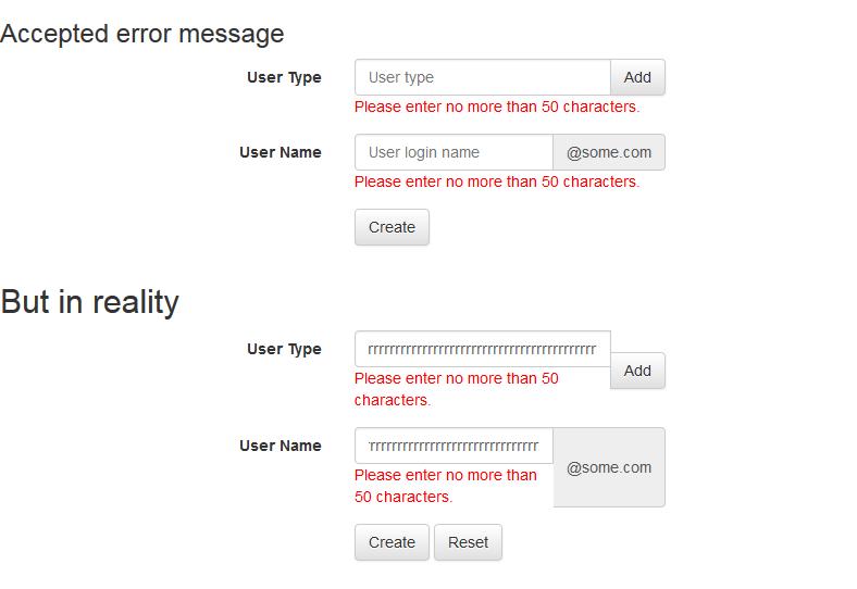 Knockout Validation Error Message Bootstrap V32 Input Group