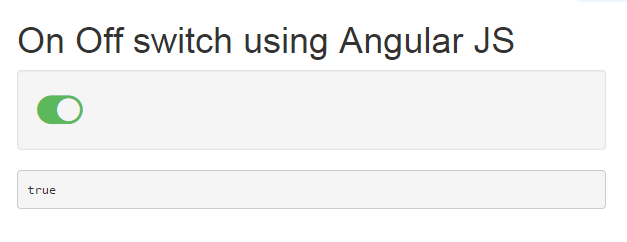 Create an ON/OFF switch using Angular JS and FontAwesome - CodeProject
