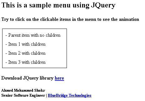 Slide menu using JQuery - CodeProject