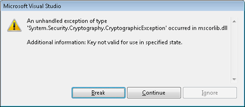 Cryptographic Exception