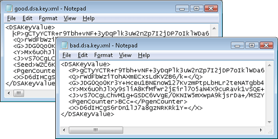XML Encoded Keys
