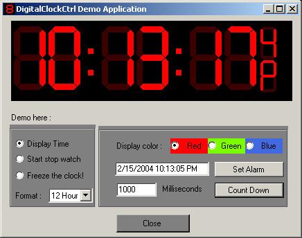 multipurpose digital clock control using net codeproject