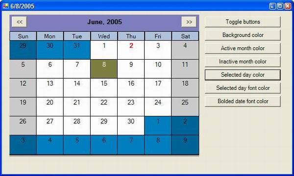 Customizable MonthCalendar Type Control: Part 1 - CodeProject