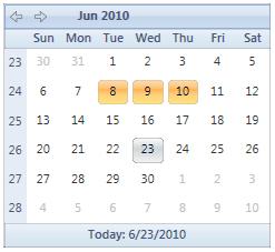 WPF: Calendar and Datepicker -Final - CodeProject
