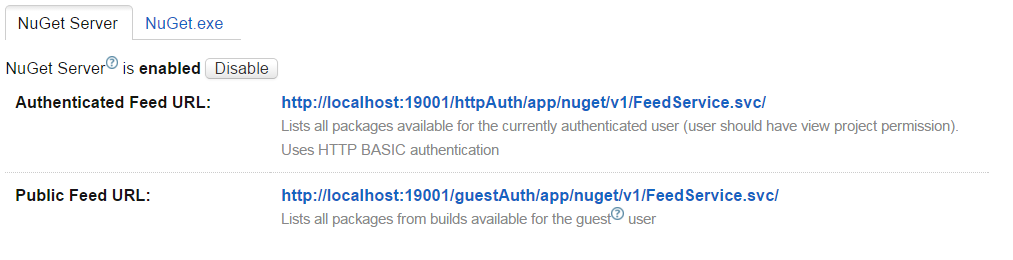 enable nuget packages