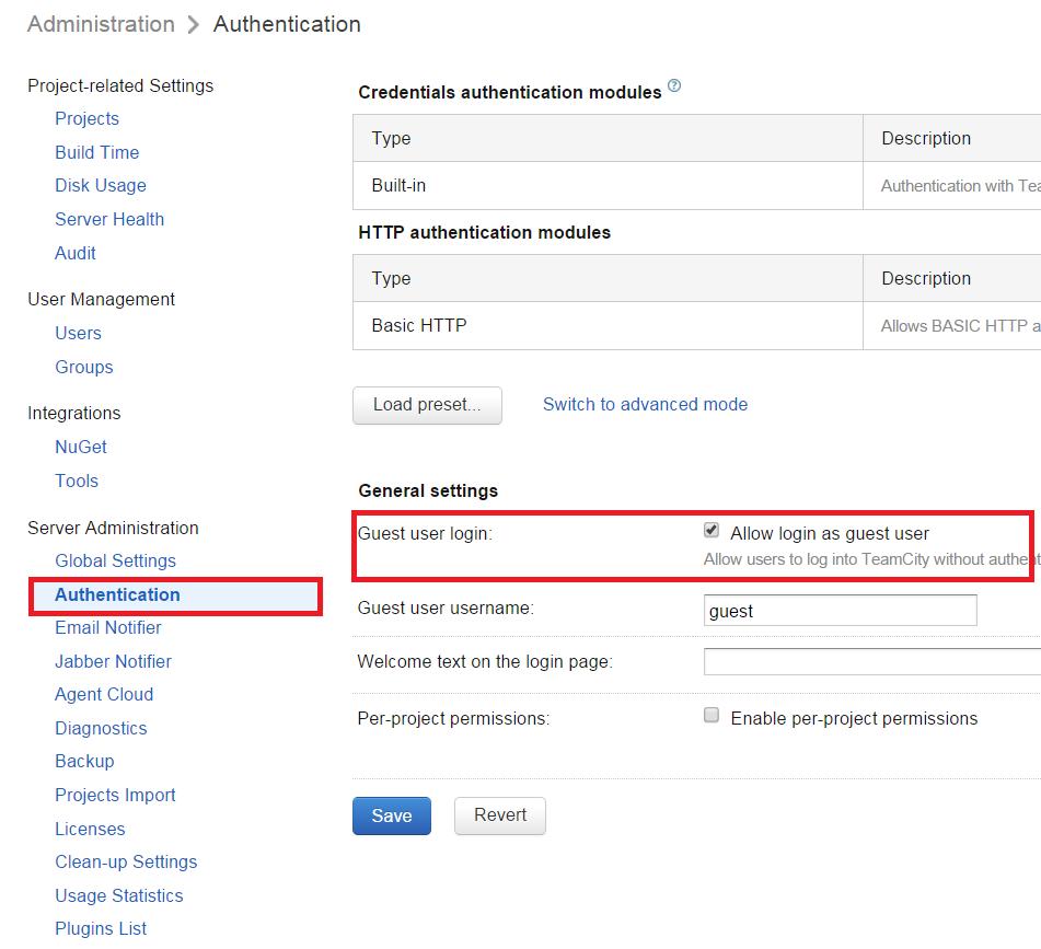 guest login enable