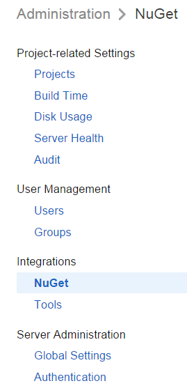 Nuget feed position