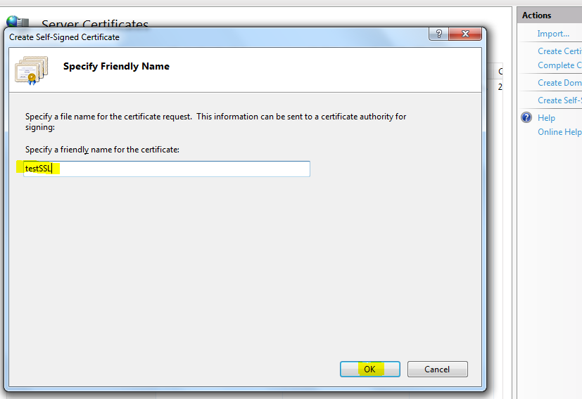 Create Local Ssl Website With Self Signed Certificate Codeproject