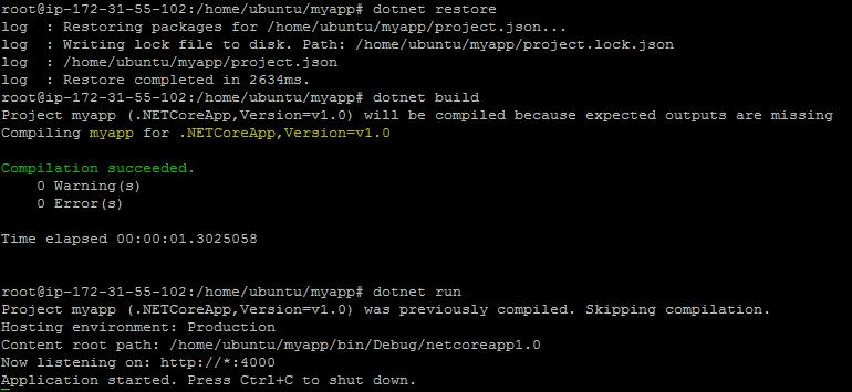 Run & Deploy ASP NET Core Web Applications on Ubuntu Linux
