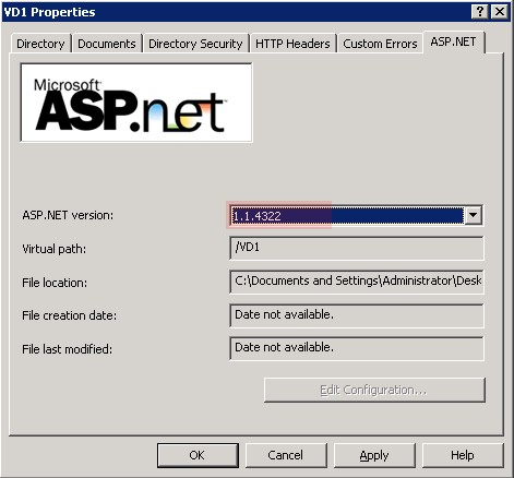 net framework version 1.1.4322