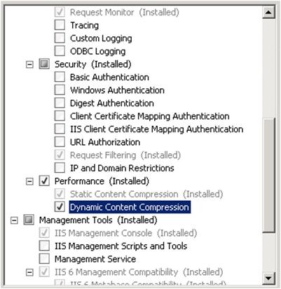 Making the most out of IIS compression - Part 1: Configuring IIS 7