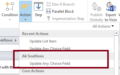Workflow (SharePoint 2013, 2010) custom action using