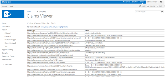 SharePoint 2013 Claims Viewer Web Part - CodeProject
