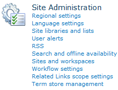SharePoint 2010 Site Administration
