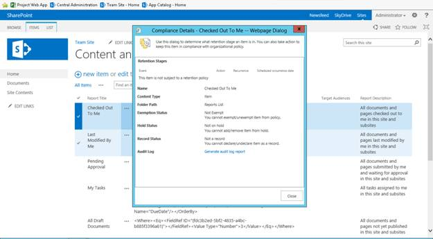 SharePoint 2013 -Content and Structure Reports - CodeProject