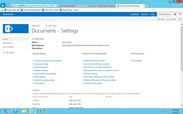 list template in sharepoint 2013 - sharepoint 2013 document library list settings codeproject