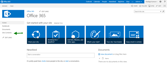 Step In To: SharePoint 2013 Online - Sites & Contents - CodeProject