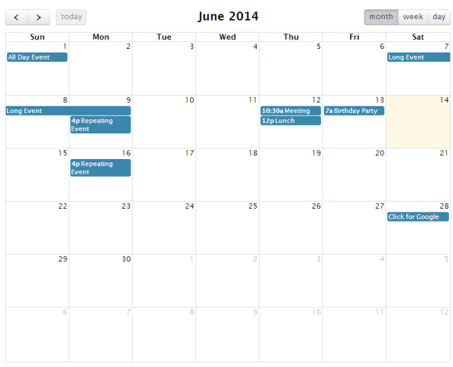 Sharepoint FullCalendar jquery View - CodeProject