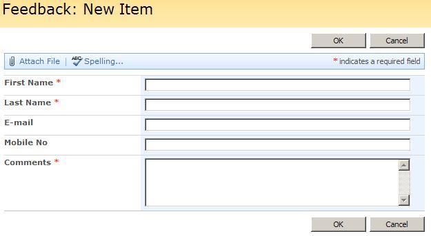 Customization of SharePoint Custom List Form - CodeProject