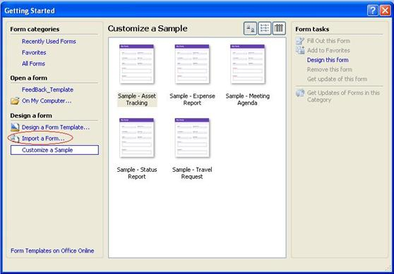 Form management in moss 2007 codeproject for Sharepoint 2007 site templates