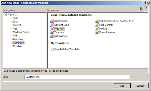 Creating a Contact Form Web Part for SharePoint - CodeProject
