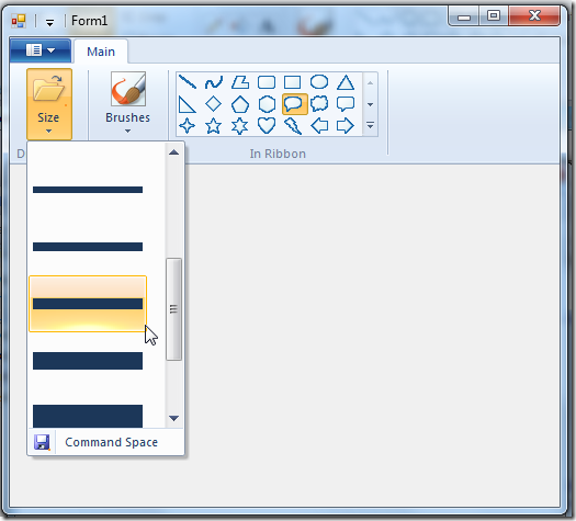 Windows Ribbon for WinForms, Part 11 – DropDownGallery ...