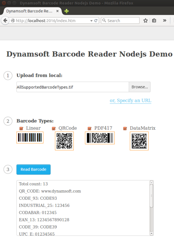 How to Build Node js Barcode Reader on Windows, Linux and