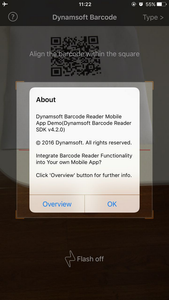 iOS Barcode Scanner with Dynamsoft Mobile Barcode SDK
