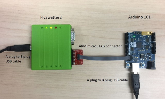 Flashing the zephyr application using a jtag adapter on