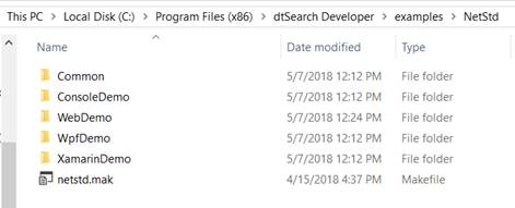 Working with the dtSearch® ASP NET Core WebDemo Sample