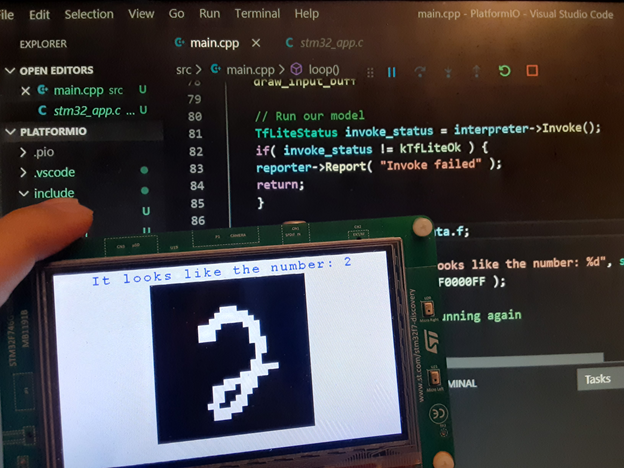 Deep-Learning AI on Low-Power Microcontrollers: MNIST Handwriting Recognition Using TensorFlow Lite Micro on Arm Cortex-M Devices
