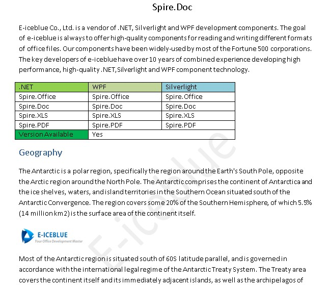 Free powerful API to process Word and PDF file-Spire Doc and