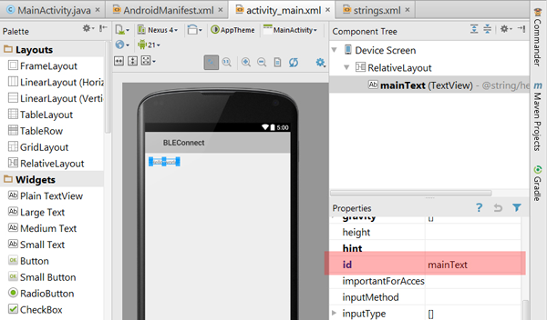 Android bluetooth le gatt example to link with arduino/genuino 101.