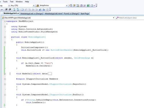 6.	Add further functionality in C# or Visual Basic