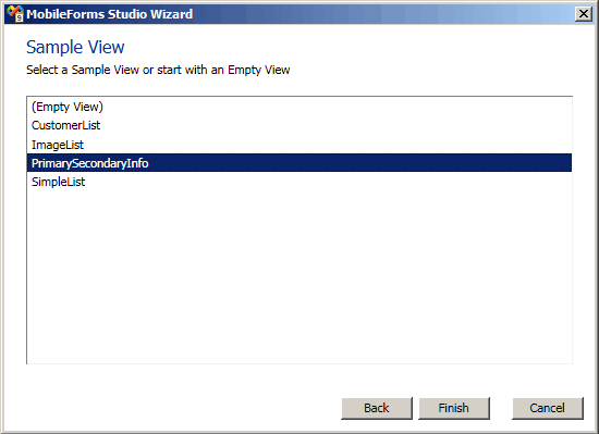 Create new list with wizard