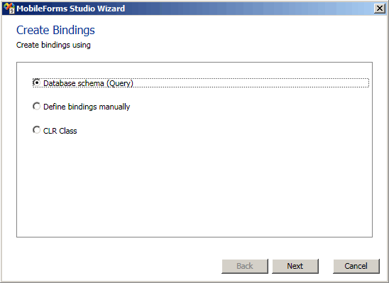 Binding items of row templates to data