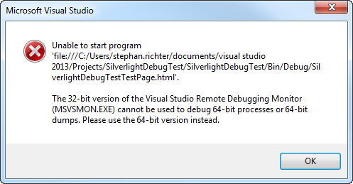 How to Debug Silverlight Applications on 64 Bit Windows when