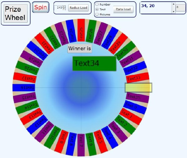 Silverlight Prize Wheel Animation Using Custom Circular Listbox