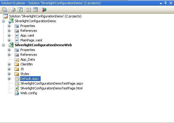 Create A Silverlight Application In Visual Studio 2008