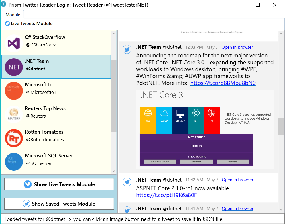 Creating a C# Prism WPF Twitter Reader - CodeProject