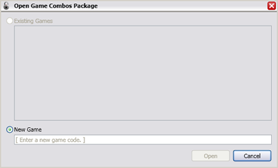 Initial open package window