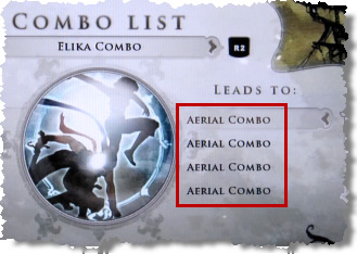 Combo List Screen