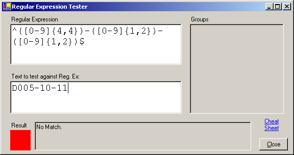 Regular Expression Tester - CodeProject
