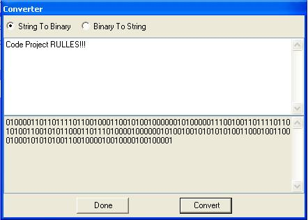 Encode message into binary trading