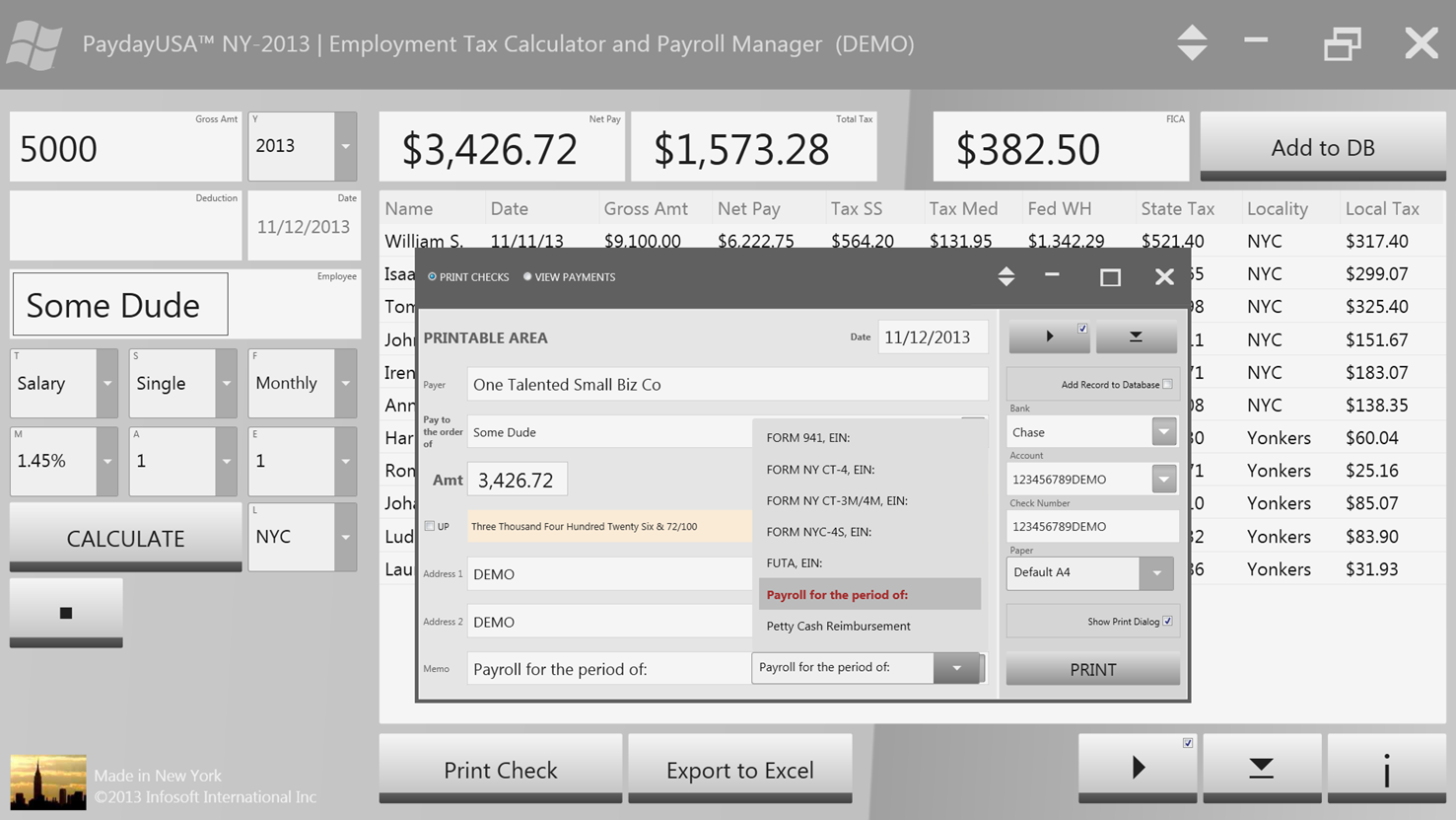 PaydayUSA™ Employment Tax Calculator and Payroll Organizer - CodeProject