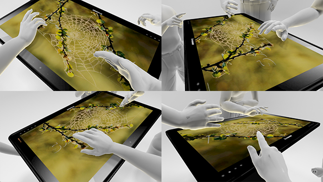 Views of the tablet from different perspectives