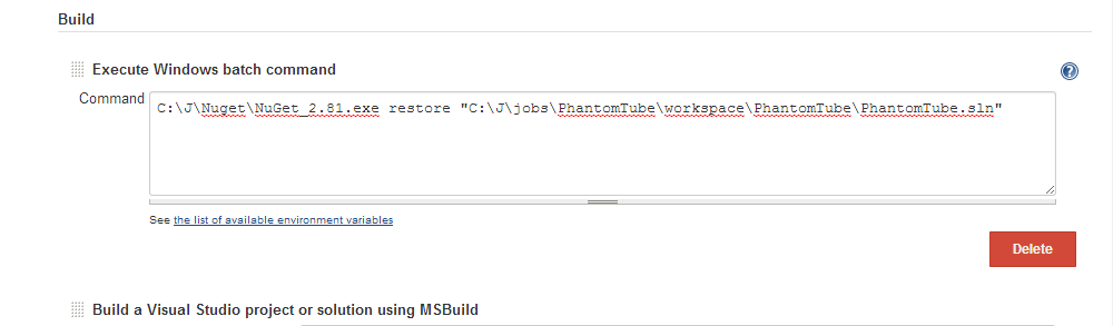 Integrate Jenkins with MSBuild and NuGet - CodeProject